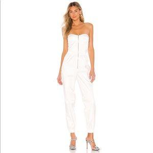 Superdown Isolde Corset Jumpsuit in White